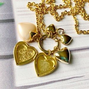 Carolee Multi-Heart Necklace w/ Locket